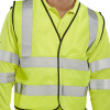 Bseen High Visibility Waistcoat Full App Small Yellow/Black Piping Ref WCENGS *Up to 3 Day Leadtime*