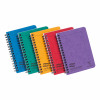 Europa Notebk Twinwire Sidebound 90gsm Ruled Micro Perf 120pp A6 Assorted Colour Ref 482/1138Z [Pack 10]