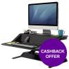 Fellowes Lotus Sit-Stand Workstation Lift Technology Black Ref 7901 [REDEMPTION] Apr-Jun 19
