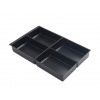 Bisley Insert Tray 2/4 Plastic for Storage Cabinet 4 Sections H51mm Black Ref 227P1