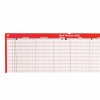 5 Star Office 2020 Staff Planner Unmounted Landscape with Planner Kit 915x610mm Red