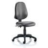 Trexus Eclipse II Lever Task Operator Chair Without Arms Vinyl Black Ref OP000029