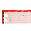 5 Star Office 2020 Year Planner Unmounted Landscape with Planner Kit 915x610mm Red
