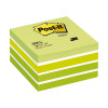 Post-it Note Cube 400 Sheets 76x76mm Pastel Green/Neon Green Shades Ref 2040-G