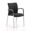 Sonix Academy Visitor Chair With Arms Fabric Back Black Ref BR000003
