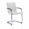 Sonix Echo White Leather Chair 490x460x480mm Ref BR000038