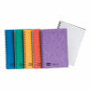 Europa Notebook Twinwire Sidebound 90gsm Ruled Micro Perf 120pp A5 Assorted Colour Ref 4850Z [Pack 10]