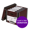 Bankers Box Premium Storage Box Tall Woodgrain Ref 7260503 [12 For 10] [REDEMPTION] Apr-Jun 19