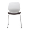 Trexus Florence Visitor Chair Dark Grey Fabric White Frame Ref BR000209