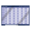 Collins Colplan 2020 Holiday Wall Planner Unmounted Landscape A1 594x840mm Blue Ref CWC10 2020