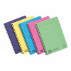 Europa Notebook Sidebound Twinwire 90gsm Ruled Micro Perf 120pp A5 Assorted Colours C Ref 3155Z [Pack 10]