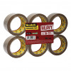 Scotch Heavy Packaging Tape High Resistance Hotmelt 50mmx66m Brown [Pack 6] Ref UU005262843
