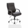Adroit Drayton Heavy Duty Chair Black Leather 560x540x510-610mm Ref EX000191