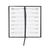 5 Star Office 2020 Slim Portrait Pocket Diary Two Weeks to View Casebound Sewn 80x160mm Black