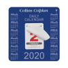 Collins Colplan 2020 Daily Block Calendar 12 Month Daily Tear-off 165x175mm White/Blue Ref CDBC 2020