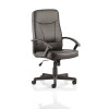 Trexus Blitz Executive Black Chair With Arms Bonded Leather Black Ref EX000137
