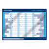Collins Colplan 2019 Year Wall Planner Landscape Unmounted A1 594x840mm Blue Ref CWC9 2019