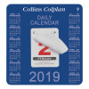 Collins Colplan 2019 Daily Block Calendar 12 Month Daily Tear-off 165x175mm White/Blue Ref CDBC 2019