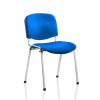 &Trexus Stacking Chair Chrome Frame Blue 480x420x500mm Ref BR000068