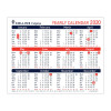 Collins 2020 Yearly Calendar for Wall or Desktop Landscape 210x260mm White Ref CDS1 2020