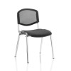 Trexus ISO Stacking Chair Without Arms Black Mesh Chrome Frame Ref BR000073