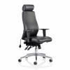 Adroit Onyx Posture Chair Head Rest Black Leather 450x470-540x590-640mm Ref OP000098
