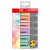 Stabilo Boss Pastel Highlighters Chisel Tip 2-5mm Pastel Assorted Ref 70/6-2 [Pack 6]