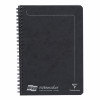 Europa Notebook Sidebound Twin Wire 90gsm Ruled Micro Perforated 120pp A5 Black Ref 4852Z [Pack 10]
