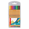 Stabilo Point 88 Fineliner Pen 0.4mm Line Asstd Ref 8810 [Pack 10]