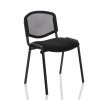 Trexus ISO Stacking Chair Without Arms Mesh Back Black Fabric Black Frame Ref BR000060
