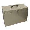 Metal File with 5 Suspension Files 2 Keys and Index Tabs Steel Foolscap Silver