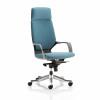 Adroit Xenon Black Shell Head Rest Chair Blue 520x470x450-535mm Ref KC0215