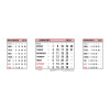 At-A-Glance 2020 Refill Dates for Three Months to View Desk Calendar 210x80mm White Ref 3SR 2020