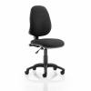 Trexus 1 Lever High Back Permanent Contact Chair Black 480x450x460-580mm Ref OP000158
