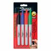 Sharpie Permanent Marker Pen Retractable with Seal Bullet Tip 1.0mm Line Assorted Ref 1985869 [Wallet 4]