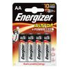 Energizer UltraPlus Battery Alkaline LR06 1.5V AA Ref 637463 [Pack 4]