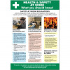 Stewart Superior Health and Safety At Work Laminated Guidance Poster W420xH595mm Ref HS106