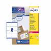 5 Star Office Multipurpose Labels Laser Copier Inkjet 8 per Sheet 99.1x67.7mm White [800 Labels]