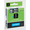Dymo White on Black 1000/5000 D1 Standard Tape 12mmx7m S0720610