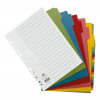 Concord Subject Dividers 20-Part Recycled Card Multipunched Multicolour-Tabs 150gsm A4 White Ref 48699