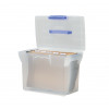 File Box Plastic for Suspension Files A4 White Lid W370xD240xH300mm Clear