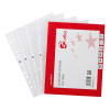 5 Star Office Punched Pocket Polypropylene Top-opening 40 Micron A4 Embossed [Pack 100]