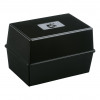 5 Star Card Index Box Capacity 250 Cards 5x3in 127x76mm Black