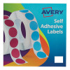Avery Label in Dispenser on Roll Rectangular 25x19mm White Ref 24-421 [1200 Labels]