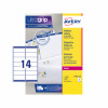 Avery Addressing Labels Laser Jam-free 14 per Sheet 99.1x38.1mm White Ref L7163-100 [1400 Labels]