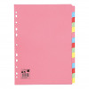 5 Star Office Subject Dividers 5-Part Recycled Card Multipunched 155gsm A4 Assorted