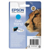 Epson T0712 Inkjet Cartridge Cheetah Page Life 495pp 5.5ml Cyan Ref C13T07124012