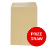 Basildon Bond Envelopes C4 Pocket Peel and Seal Recycled 90gsm Manilla Ref C80191 Pack 250 [PRIZE DRAW]