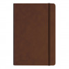 Silvine Executive Soft Feel Notebook 80gsm Ruled with Marker Ribbon 160pp A5 Tan Ref 197TN