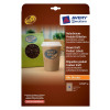 Avery Product Labels 18 per Sheet 63.5x42mm Brown Kraft Oval Ref L7103-20.UK [360 labels]
